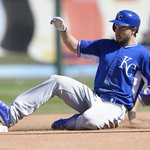 #Royals Eric Hosmer reaches second in Wednesdays spring training game in Surprise, Ariz. Star photo by John Sleezer http://t.co/wS7fzetpPO