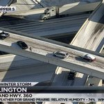 Drivers stranded along I20 and Hwy 360 in Arlington. Live #NBCDFWSnow coverage here: http://t.co/3q6uBS3beR http://t.co/7gmTZWMcYG