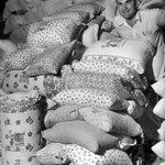 대공황기 미국에서 가난한 집 부인들이 밀가루 푸대로 아이들의 옷을 지어입힌다는것이 알려지자, 몇몇 제분소에서는 푸대에 꽃무늬를 인쇄했다고. 회사 라벨은 빨면 지워졌다고 합니다. http://t.co/1lgzcJHxnS