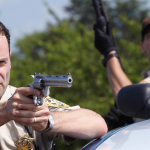 Deputy Rick before the apocalypse. #TBT #RIPRicksBeard #TheWalkingDead http://t.co/3qmyK62eAa