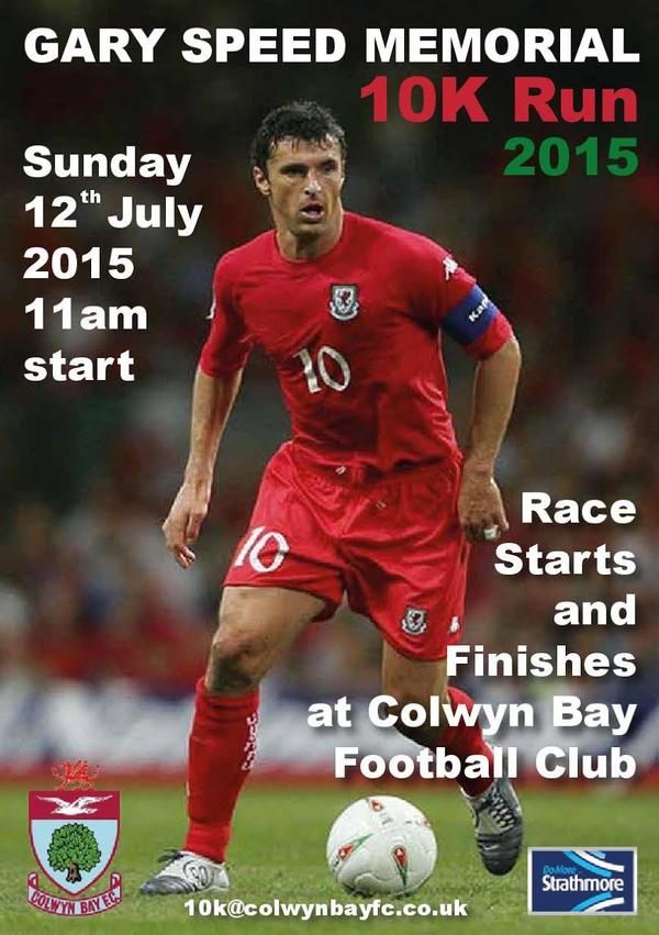 Pls RT Gary Speed Memorial Run Sunday July 12th #colwynbay #nwaleshour #wirralhour http://t.co/KOxny75j9O