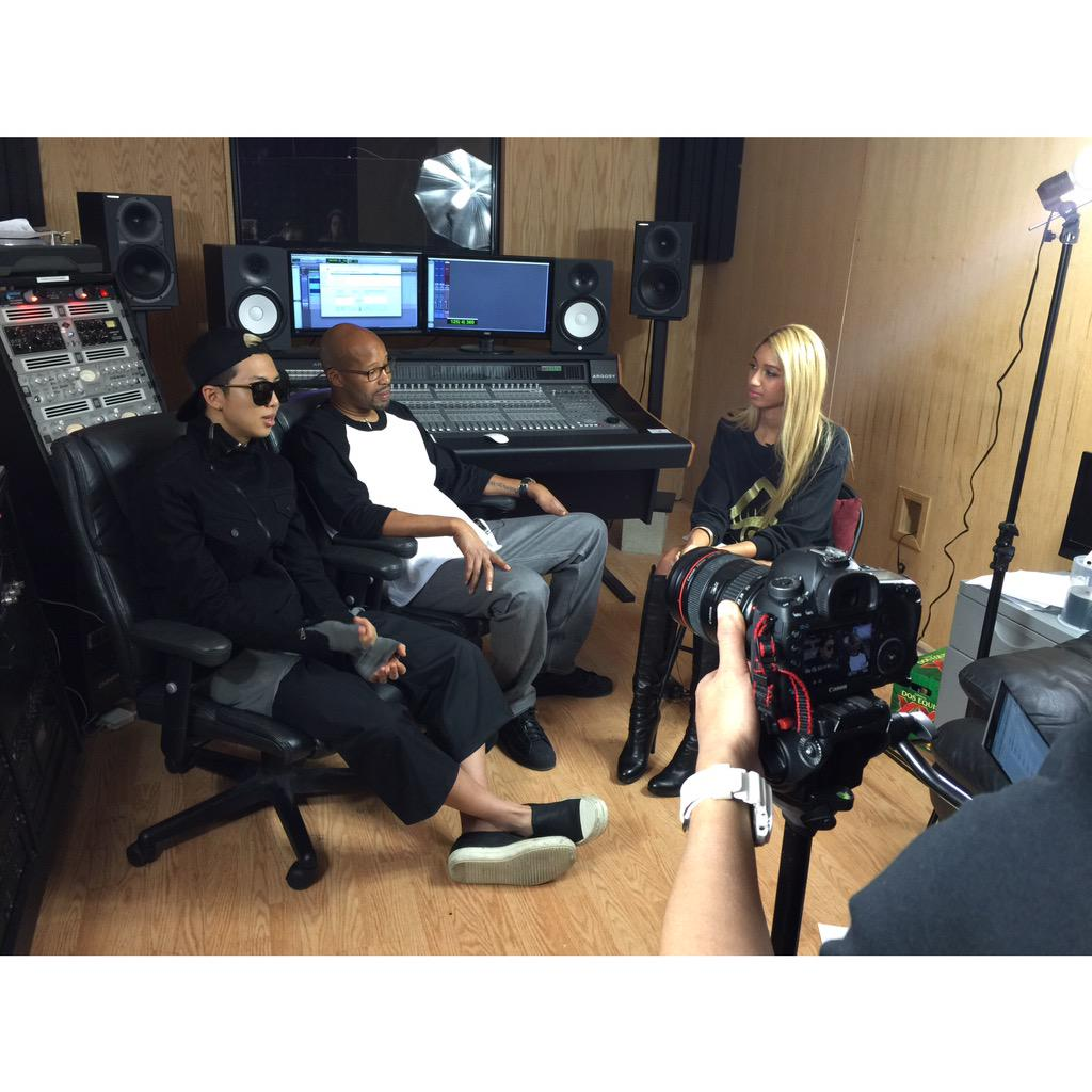 Last week we got to go BTS w/ @BTS_twt! Check out #Rapmon & @regulator in the next episode of #EastMeetsMorgan! http://t.co/bXkC7fCeqc