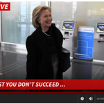 """TMZ catches Hillary at DCA, asks if her email problem stems from """"a generalization gap."""" http://t.co/8tWbyh1tyA http://t.co/cvKQ0eKGBP"""