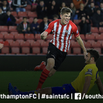 PHOTO: #SaintsFCs @SamGallagher40 wheels away after equalising in tonights #U21PLCup tie. http://t.co/6MBJ17OLTh