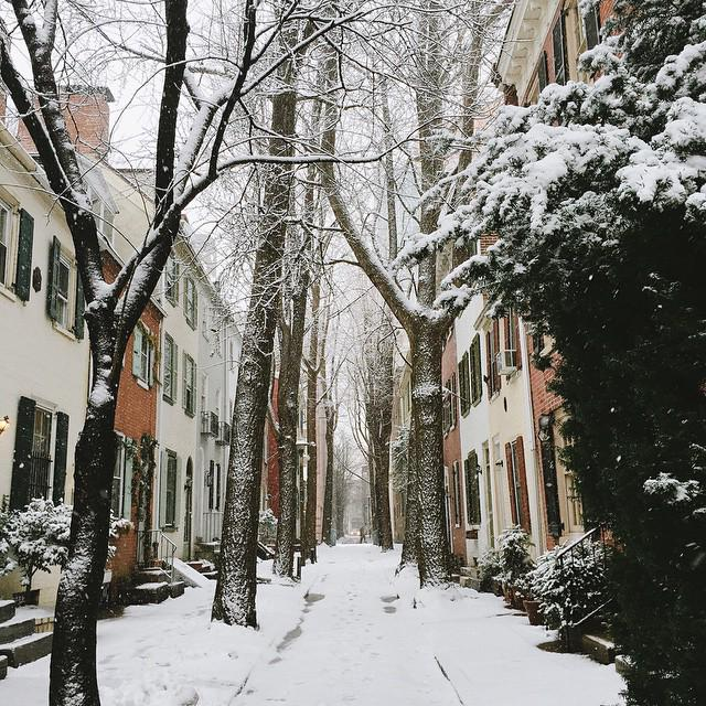 Snow day on Quince Street. #whyilovephilly #visitphilly http://t.co/3ecRexcEMC