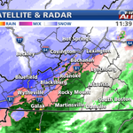 Snow has worked into the NRV and far southwest Virginia. Sleet has been reported in Roanoke. What do you see? http://t.co/Y4qWeEki2X