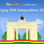 Lamudi #Ghana wishes all Ghanaians a Happy #IndependenceDay #Ghana@58 http://t.co/ii4ymuBG9s
