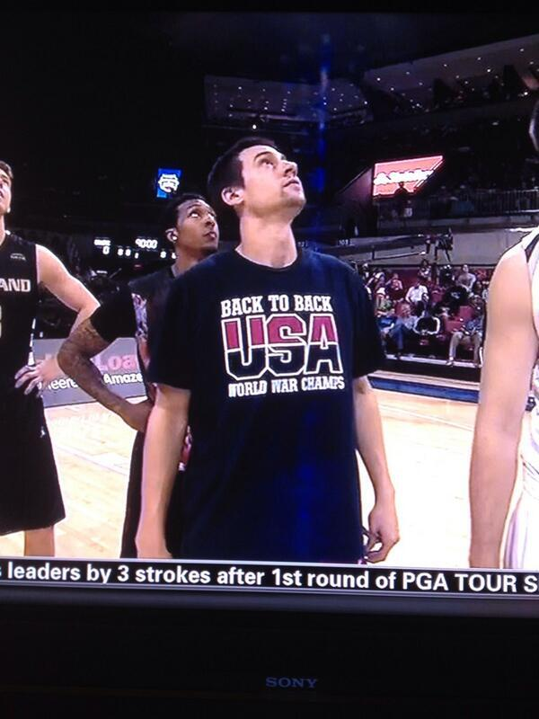 Marshall Henderson wore this t-shirt while playing in Iraq. MARSHALL HENDERSON IS AN AMERICAN HERO. http://t.co/ZqOpLioVzq
