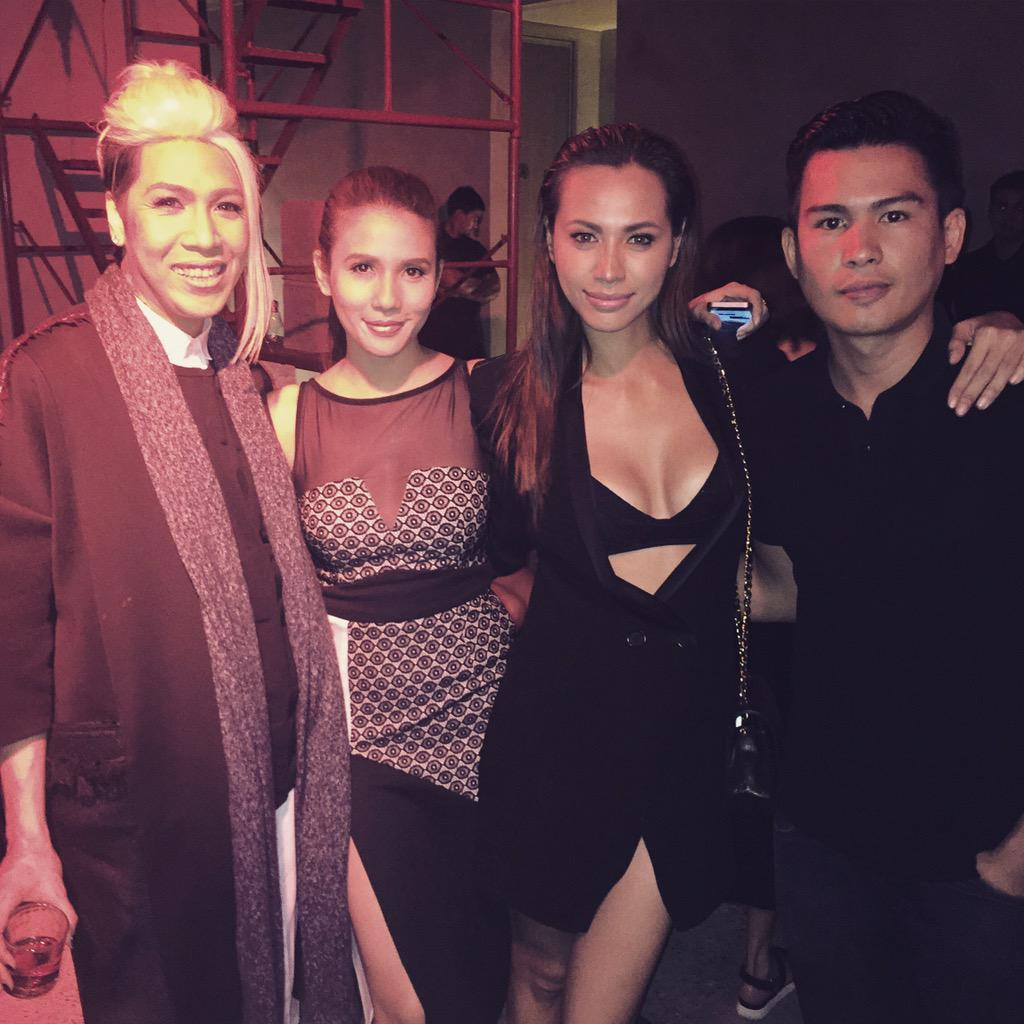 With my fave couple!  @vicegandako @anakarylle and the newest member, resident chef of #vicerylle @jeremyfavia http://t.co/jA3Kb8PE2p