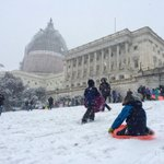 Civil disobedience at the US Capitol as parents bring their kids to sled after Capitol Police said its not allowed: http://t.co/RJ1taw5KaP