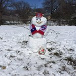Snowman @ulloa_victor and I made! #FCDallas ⛄️⚽️❄️ http://t.co/8bV9hXAVZL