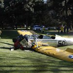UPDATE: Harrison Ford in serious condition, including lacerations to head, possible fractures http://t.co/YrjvYxFjLz http://t.co/AKCYjXnPWO