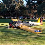 MORE: Harrison Ford piloting vintage WWII-era plane when it crashed http://t.co/Vbhzh8d5DH Pic: @USATODAY http://t.co/R9kUiEFp3z