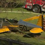 Wreckage from actor Harrison Fords crash-landing in California. Ford has been hospitalized. http://t.co/mwuejSv0QV http://t.co/JV0NEe47C1