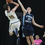 #LCs Tanner Bouma attempts to block a shot by #NachesValleys Jarek Barbee. #LC up 29-19 at half. #HardwoodClassic http://t.co/rLNLjgeAZo