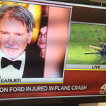 "UPDATE: #HarrisonFord is ""fine."" Has ""a few gashes,"" family says. Son heading to hospital http://t.co/uQxfuAQ16W http://t.co/zbCMN5cRNP"
