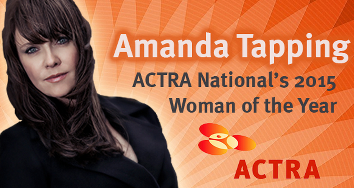 . @amandatapping Congratulations on the ACTRA recognition!  So deserved!  I love it!   @ACTRAnat 2015 Woman of http://t.co/IHyfWM7hdV