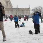 Possibly more media than sledders. Capitol police mentioned 2 injured reporters, no injured sledders #SledFreeOrDie http://t.co/cfjcSWLEjM