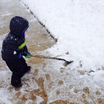 Adorable snow baby shoveling, submitted by Elizabeth! #SnowDay9 http://t.co/TaKNguNBBA http://t.co/Afgf8tKNBR