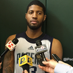 """VIDEO: http://t.co/DRvtvU5jEf Paul George talked about todays """"good day of practice."""" http://t.co/YrX4O83tU4"""