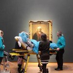 A dying woman in Amsterdam requested  last glimpse of Rembrandt & the Rijksmuseum. One extraordinarily moving image. http://t.co/cv5BkrClkd