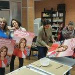 Preparando los carteles para el inicio de campaña de las andaluzas con mucha ilusión #YoConSusana @PSOEHUETORVEGA http://t.co/05HppToivM