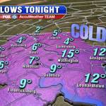 Snow is winding down NW of #DC but temps plummet overnight! Join us @fox5newsdc at 5 & 6! #Fox5SnowDay http://t.co/2AnqzthNcy
