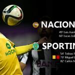 90 Final do Jogo   Fulltime : Nacional 2-2 Sporting (54 Tobias Figueiredo ; 82 @CMane36) #DiaDeSporting http://t.co/fsqYSRJPRN