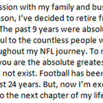 Maurice Jones-Drews statement on his retirement from the NFL: http://t.co/jDqaOubQiK
