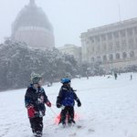 Great day sledding @uscapitol. Thanks to @capitolpolice for being good sports. #SledFreeOrDie #dc http://t.co/2JMjSWDlaG