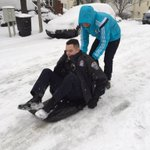 Theres no sledding controversy here in #ArlingtonVa! Thanks for letting us try out the sled! #ArlWX http://t.co/0PwJ3N9gQj
