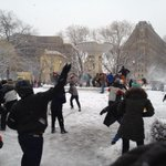 Snowball fight underway at #DuPontCircle defending the fountain. #SnowDay9. @wusa9 http://t.co/CUFloQ0zLy