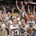 The North Linn Lynx celebrate their OT semifinal win. They will play for 2A state title tomorrow. #iahsbkb @jtlinder http://t.co/xwITE5cHnL