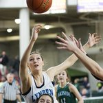 #LyndenChristians Kara Bajema goes over the back of #Lakesides Sienna Swannack. LC down 15-13. #HardwoodClassic http://t.co/0Vl7IPFXd8