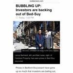 Ban & I featured in the NY Daily News discussing the Bed-Stuy Boom! http://t.co/xggjLi0Gbh #RealEstate #Brooklyn http://t.co/zuuMaz6YL6