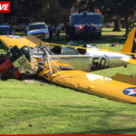 Harrison Ford was pilot of vintage plane that crashed on Venice, CA, golf course, @TMZ reports http://t.co/vRBoyrqRTJ http://t.co/ovQHrQOhz4