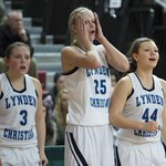 #LC players react to a foul in the 4th quarter. #Lakeside scored 24 in the 4th to win 43-28. #HardwoodClassic http://t.co/B7t7JbUWOd