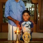 Mahadev with my lovely father Mr.v.santhakumaran .nair after the morning Pooja.. http://t.co/nerPHSZ8et