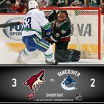 FINAL | #Coyotes 3, @VanCanucks 2 (SO) | ARI goals by @TobiRieder9, Tye McGinn | Mike Smith made 32 saves http://t.co/Drmym6nDK2