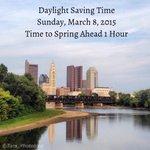 #DaylightSavingTime this Sunday. #SpringAhead 1 hour. #asseenincolumbus #expcols #cbus #columbusohio #Ohio #USA http://t.co/7dpqgj0Hn0