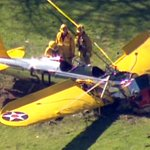 UPDATE: Harrison Ford in fair to moderate condition after plane crash-lands on golf course http://t.co/34jmaFdZyE http://t.co/aIWJfMBMIB