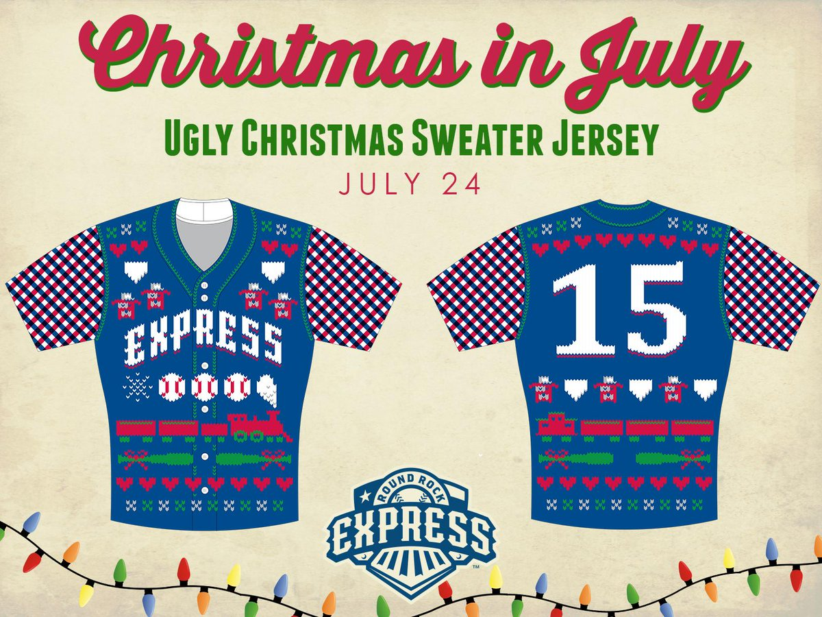 ICYMI: The @RRExpress will wear ugly sweaters to celebrate Christmas in July. #UniWatch http://t.co/UVrNZq3Vzi