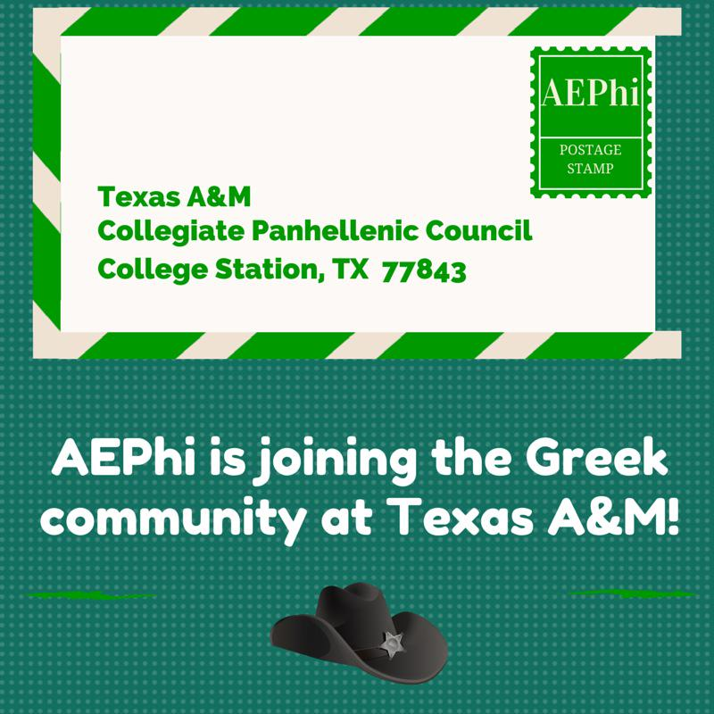 We r excited to announce that we are joining the @TAMUPanhellenic community.  We look forward to coming to Aggieland! http://t.co/CCh6m0tmLn