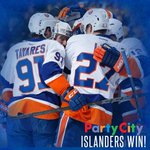 #ISLES WIN! @Bnelson scores late to give the Islanders a 4-3 lead over the Predators! http://t.co/s24UYLlKP6