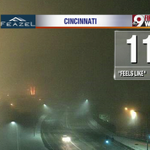 Dense fog has taken over in downtown Cincinnati at 4:25 a.m. and it continues out to the east side. @wcpo #Cincywx http://t.co/7tt7lCupLz