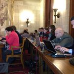 Reporters still upright as #RightToWork hearing hits midnight. Sked to end at 9 p.m. http://t.co/tJOXHpMcnO