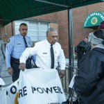 Pine Lawn officials remove MORE power banner at debtors prison protest (@LBPhoto1) http://t.co/XJOSrWwGjD