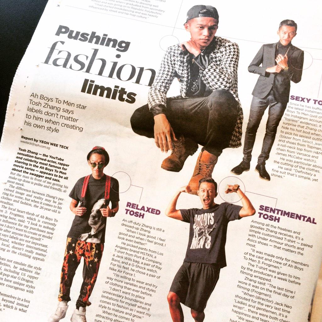 Working with Ah Boys To Men 3 star style @toshrock for @thenewpaper http://t.co/dXHemNQo3B