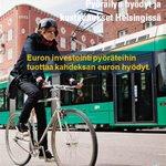 Euron investointi pyöräteihin tuottaa kahdeksan euron hyödyt.  http://t.co/S5CQh5zGJL http://t.co/Cv2BRcLp39