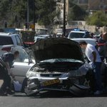 The vehicle used by the #Palestinian terrorist in todays #Jerusalem car ramming attack (pic via Marc Sellem, #JPost) http://t.co/v84NufzvvX